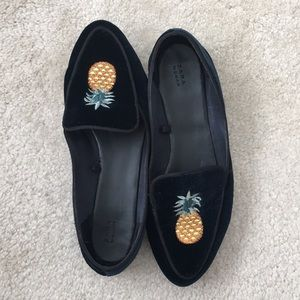Blue velvet, Pineapple Loafers